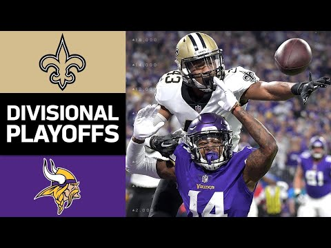 Saints vs. Vikings | NFL Divisional Round Game Highlights (видео)
