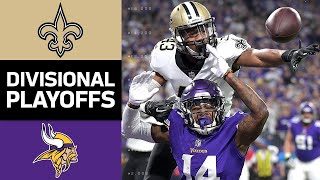 Saints vs. Vikings | NFL Divisional Round Game Highlights