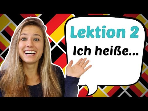 "GERMAN LESSON 2: How To Say ""MY NAME IS ..."" In German 😄😄😄"
