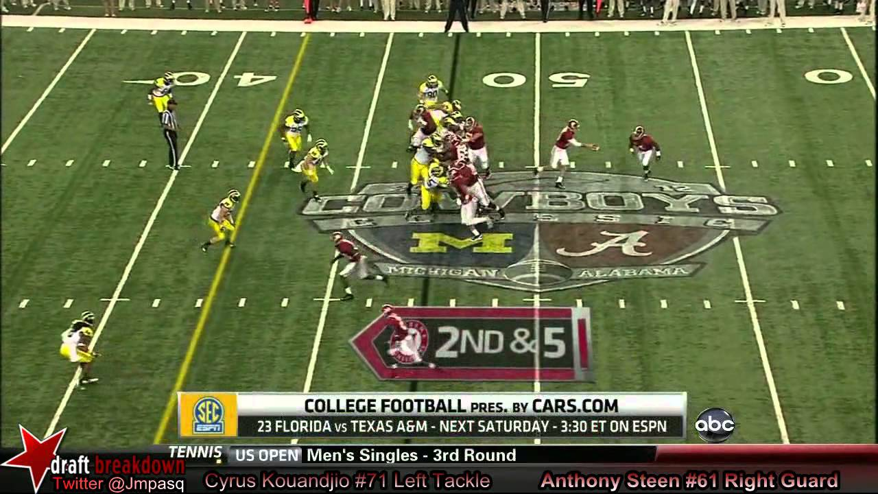 Cyrus Kouandjio vs Michigan (2012)