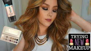 TRYING NEW MAKEUP | LOREAL PRO GLOW, LORAC PRO 3+ MORE by Danna Ann