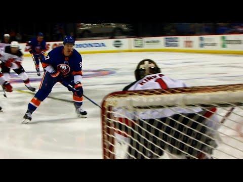 Video: Islanders' Lee blocks a shot then goes five-hole on breakaway to score