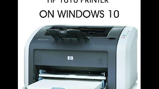 This will show you how to install your HP 1010 printer on windows 10.