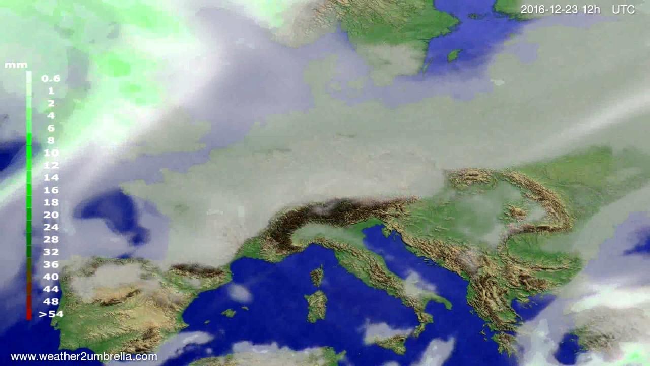 Precipitation forecast Europe 2016-12-21