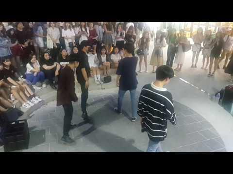 [4TEN 포텐] BTS 봄날 커버안무 홍대댄스버스킹 20170622목 [Korean Hongdae Kpop Dance Busking]