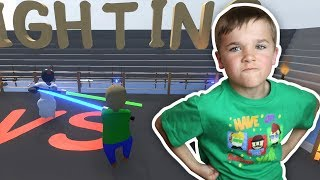 WHO IS STRONGER GRANNY OR BALDI?! FIGHT IN ARENA / HUMAN FALL FLAT