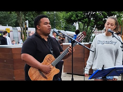 HIS VOICE IS GORGEOUS - Stevie Wonder - Isn't She Lovely | Allie Sherlock, Fabio & Jason cover