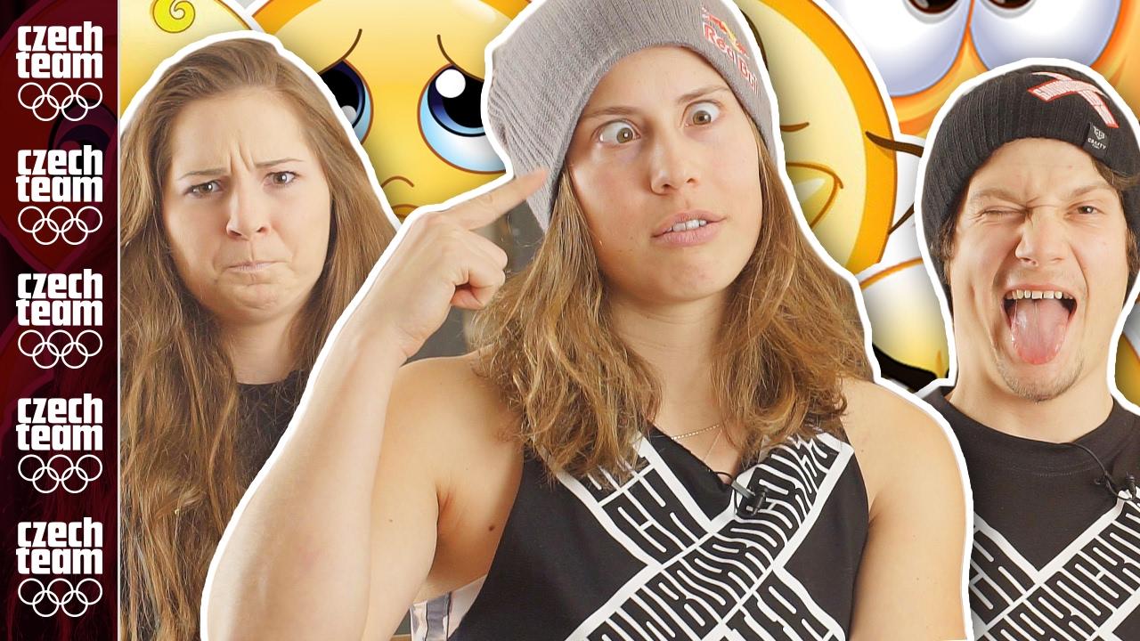 Emojis challenge 2: Eva Samková a spol. se ksichtí jako emojis! | FUNNY SRANDY