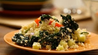 Ensalada de quinoa con aguacate y kale