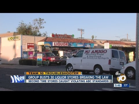 , title : 'Group Busts 30 Liquor Stores Breaking The Law'