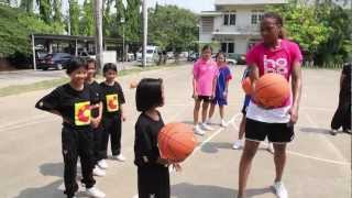 WNBA Stars Tamika Catchings And Ebony Hoffman In Thailand, Part 2