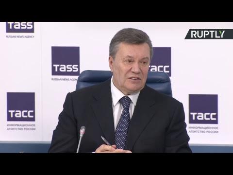 Пресс-конференция Виктора Януковича в Москве (Часть 1)