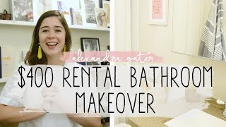 DIY TINY RENTAL BATHROOM MAKEOVER | Hardwood floors for apartments