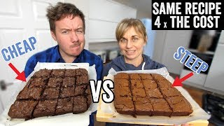 Chocolate Brownies - Cheap vs Steep by  My Virgin Kitchen
