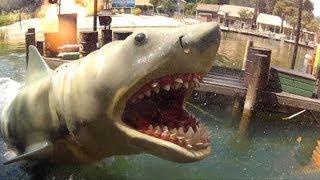 Jaws! Full Ride Experience HD POV 1080p Universal Studios Hollywood, Studio Tram Tour Backlot