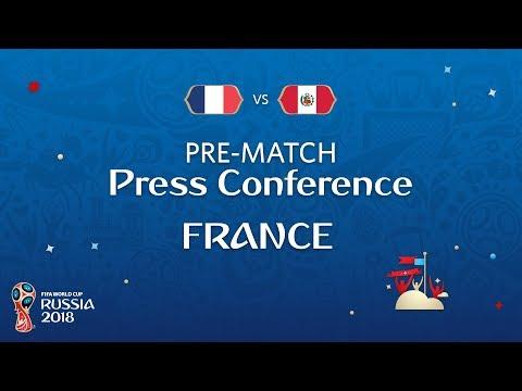 FIFA World Cup™ 2018: France - Peru: France - Pre-Match Press Conference (видео)