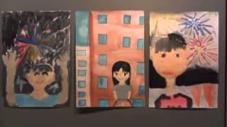 羽黒小3、4年生図画作品展