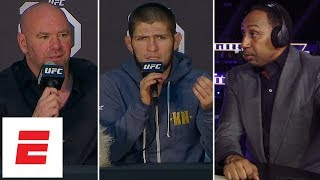 Video Stephen A., Khabib Nurmagomedov, Dana White react to UFC 229 post-fight brawl MP3, 3GP, MP4, WEBM, AVI, FLV Februari 2019