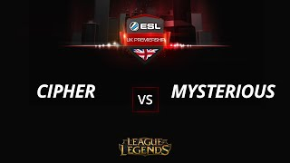 Cipher vs MysteriousHS, game 1