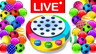Learn Colors With Dancing Balls Finger Family Songs MEGA COLLECTION by KidsCamp - LIVE STREAMING