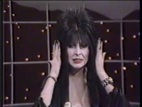 AN ELVIRA APPEARANCE - {CASSANDRA PETERSON}  Mistress of the Night