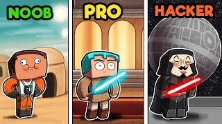 Minecraft - STAR WARS BASE CHALLENGE! (NOOB vs PRO vs HACKER)