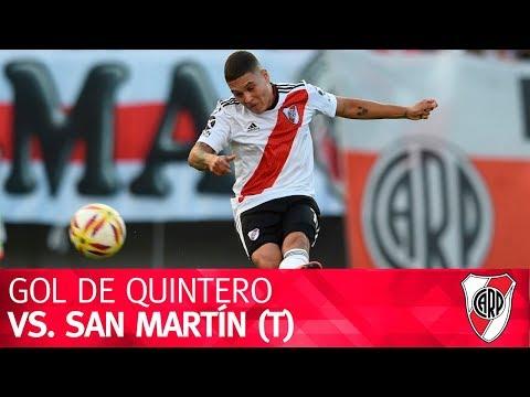 Gol de Juan Fernando Quintero vs. San Martín (T)
