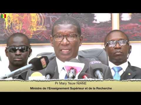 Conférence de presse du gouvernement sur l'état des négociations avec le SAES