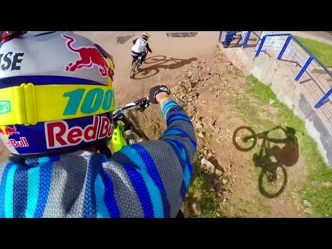 aaron chase: urban downhill mtb pov in the streets of peru