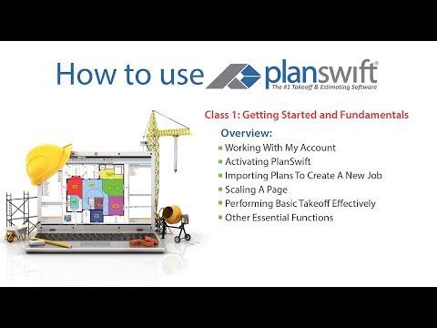Level 1 PlanSwift Webinar Tutorial UPDATED