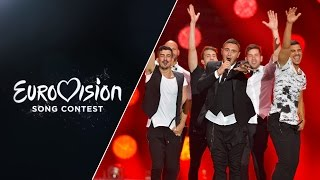 Live performance in the second Semi-Final of Golden Boy by Nadav Guedj representing Israel at the 2015 Eurovision Song ...