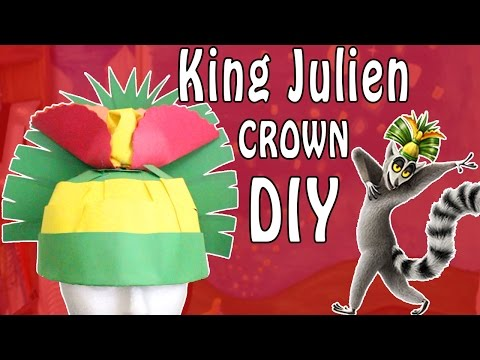 How To Make King Julien's Crown - Halloween DIY - Madi2theMax