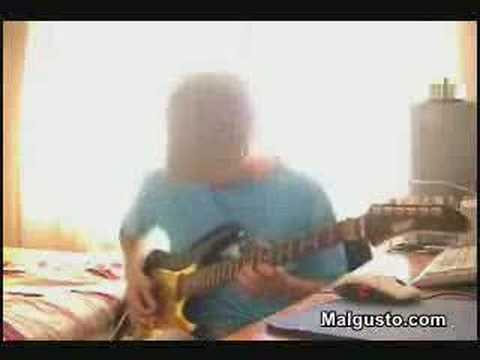 Maestro con la guitarra eléctrica