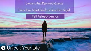 "This is a fall asleep version of the Connect and Receive Guidance from Spirit Guides / Guardian Angels to 1) contact MORE of your guides / angels with some updates; 2) to give you more time in conversation / connection and 3) to deepen the relaxation experience, transitioning to sleep.This session takes you in whatever state you are, however busy, buzzing or anxious your mind, and can take you down in about 10 minutes to theta state: that state between wakefulness and sleep where many believe we can enter the spiritual realm.  This is why many of us hear or see things just as we fall asleep. During this journey you will have the opportunity to meet with up to two guides or angels.If at first nothing appears, do not worry.  The psychic ability is like a muscle and needs practice to get stronger.There is a gentle transition to sleep at the end but even if you fall asleep during this, I put in place post-hypnotic suggestions so you will recall the experience on waking.Royalty free music track ""In Spiritus"" by Christopher Lloyd Clarke, licensed by Enlightened Audio, available from www.enlightenedaudio.comRoyalty free video footage from videvo.com and niz.coSpiritual Hypnosis playlist: http://bit.ly/2dOtMXoThink Yourself Slim playlist: http://bit.ly/2dFmAM5Deep Sleep playlist: http://bit.ly/2dDf1oUPositive Daily Affirmations: http://bit.ly/2evKyqMSetting Boundaries and Assertiveness: http://bit.ly/2dTttYKHealing Hypnosis: http://bit.ly/2dWzBE2Self-Esteem playlist: http://bit.ly/2dOt9NFMeditations on Challenging Emotions: http://bit.ly/2oy6ckN7 Day Think Yourself Slim Program:http://www.thinkyourselfslim.com for just $69.90 USD, http://www.thinkyourselfslim.com/eu for just €59.99http://www.thinkyourselfslim.com/uk for just £49.99Get $5 off a minimum $25 purchase on all mp3s (excluding the Think Yourself Slim Program) by using code UYL5 at www.unlockyourlifetoday.comSubscribe to Think Yourself Slim's Youtube Channel:http://bit.ly/1NbGwlXConnect on Facebook and gain access to exclusive offers and the occasional mp3 gift: http://www.facebook.com/unlockyourlifetodayUnlock Your Life Mp3s on iTunes: https://itunes.apple.com/artist/unlock-your-life/id1034660915Think Yourself Slim MP3s on iTunes:https://itunes.apple.com/artist/think-yourself-slim/id1009734404-----------------------------------------------------You must be of adult age in your state, or country or gain caregiver or parental approval to listen. These recordings are intended for relaxation, self-improvement and entertainment purposes only.   Hypnosis is not a replacement for any counseling or psychotherapy.  These recordings do not diagnose, cure or prevent any mental or physical health condition or illness or prevent any illness or condition of the body or mind, they cannot tell you what will happen to you in the future.  If you think or know you have a health issue, talk to your doctor before listening to any part of this recording.  Never delay, change or stop any treatment, medication or regime without consulting with your doctor or health care professional first.  Never change your lifestyle, including but not limited to diet, exercise, sleep or anything else without consulting with your doctor first and following his or her advice. If you ever feel unwell at any time while listening to these recordings, you must seek immediate medical attention.  You should continue taking regular medical check-ups.If you know you have any kind of mental health issues, you should NOT buy or listen to any of our hypnosis recordings. If you wish the benefits of hypnotherapy, ask your counselor or therapist.By listening to this recording you confirm that you have checked any suspected or confirmed mental or physical health condition with a doctor and you accept full responsibility for all outcomes.  You understand that hypnosis is merely a process of suggestion and you can always accept or reject the suggestions you receive.  You are always in control.   All hypnosis is self-hypnosis.  Therefore we cannot guarantee, (a) that you will get any results at all or; (b), that any results you do get will be permanent.Please only ever listen to any of these recordings when you are in a quiet space, ideally at home or in a quiet room.  Never listen to any of these recordings while driving or operating machinery or when required to remain alert to your environment as you may become very relaxed and may even fall asleep.All recordings are best listened to on headphones.All scripts are unique and protected by copyright law by © Sarah Dresser 2015 / 2016 /2017 and may not be transcribed, re-used or re-recorded in part or whole whether for public or private practice use.  All recordings are also copyright protected and are not permitted for public broadcasting, or any form of paid or unpaid distribution other than for private, individual use.  These recordings may be removed or deleted at any time with no notice."