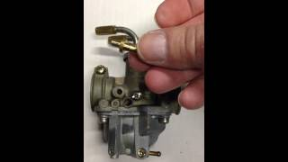 10. Repairing the oil feed nipple on a PW50 carburetor.