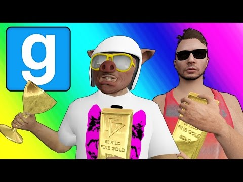 Gmod Deathrun Funny Moments - Gold Rush! (Garry's Mod Sandbox) (видео)