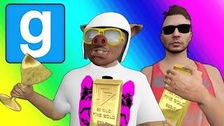 Gmod Deathrun Funny Moments - Gold Rush! (Garry's Mod Sandbox)