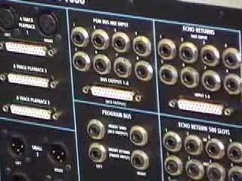 API Audio 1608 Console Rear Panel – Vintage King Audio