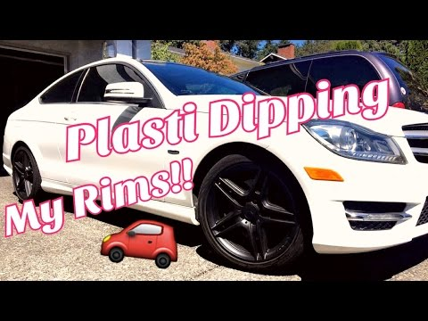 PLASTI DIPPING MY RIMS  (MERCEDES) -  How To #1