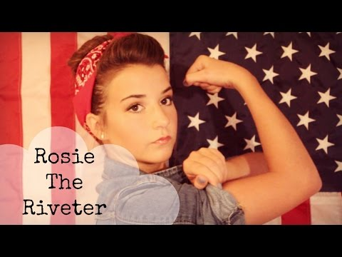 Rosie The Riveter Makeup, Hair and Outfit : Halloween Tutorial