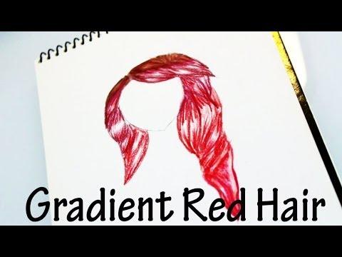 Gradient Red Hair Prismacolor Colored Pencils Tutorial