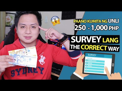 Paano kumita online ng Unli 250 to 1,000 pesos? The Correct Way to Complete Online Surveys (EASY!)