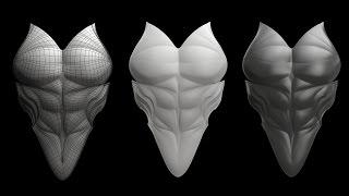 Zbrush + Modo 901 Armor Part_1
