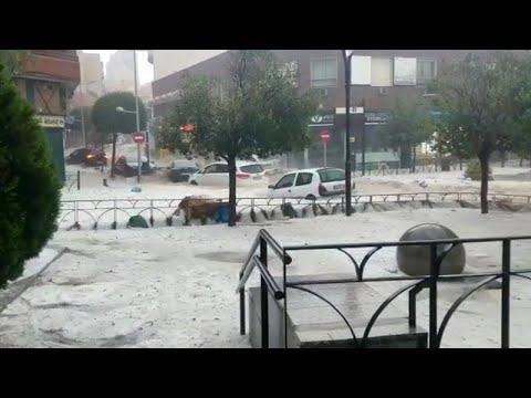 Πλημμύρες λόγω μπόρας στη Μαδρίτη