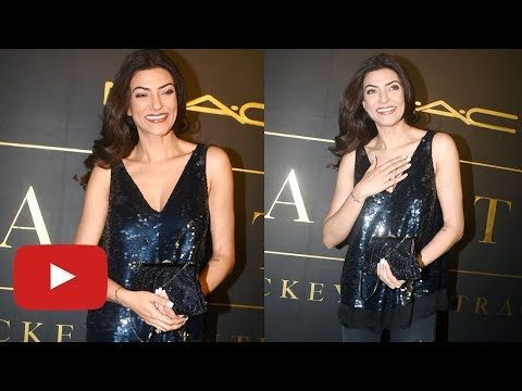 Sushmita Sen Looks Hot In Black Dress At Mickey Co