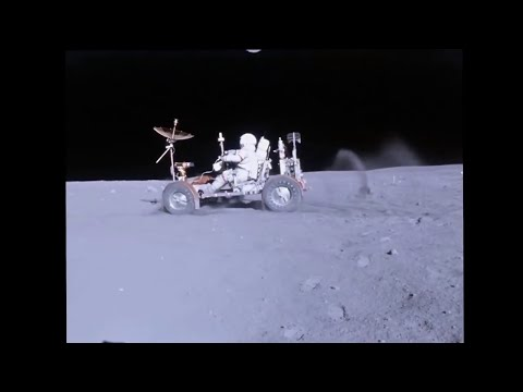 Stabilized video video of lunar buggy ride