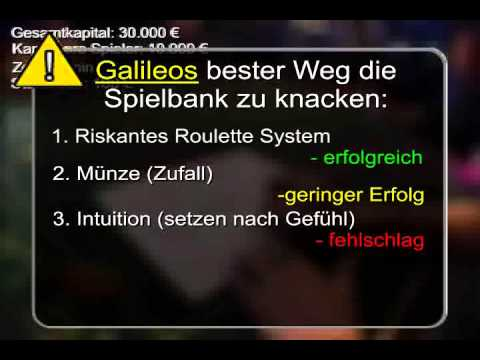 Galileos riskante Roulette System Lüge entlarvt