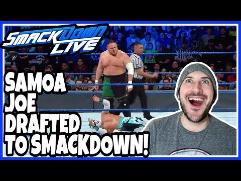 Reaction | SAMOA JOE ARRIVES TO WWE SMACKDOWN LIVE | Superstar Shake-up April 17, 2018