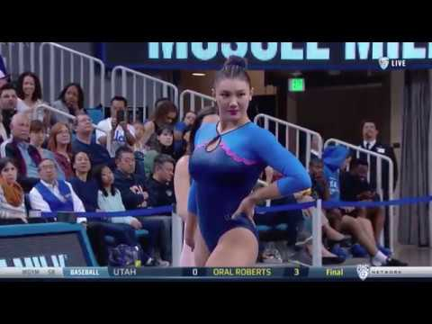 Kyla Ross (UCLA) 2018 Floor vs Utah 9.875