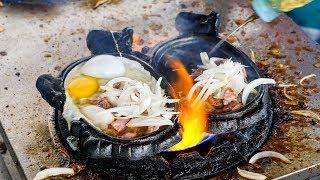 Video FLAMING BEEF and EGGS! - Must-Eat Cambodian Street Food Dish in Phnom Penh! MP3, 3GP, MP4, WEBM, AVI, FLV Februari 2018